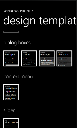 Wp7 Design Template Screen